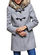 Buy Miss Selfridge Duffle Faux Fur Coat, Grey Online at johnlewis.com