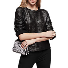 Buy Reiss Astrid Metallic Jumper, Gunmetal Online at johnlewis.com