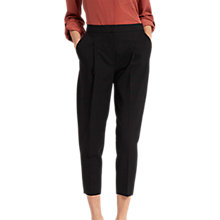 Buy Jaeger Crop Tapered Trouser, Black Online at johnlewis.com