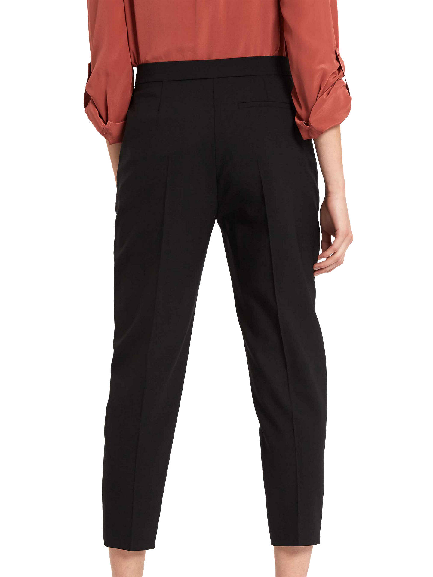 BuyJaeger Crop Tapered Trouser, Black, 6 Online at johnlewis.com