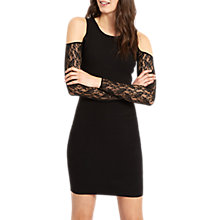 Buy Jaeger Lace Cut Out Dress, Black Online at johnlewis.com