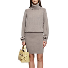 Buy Reiss Cyra Roll Neck Dress, Natural Online at johnlewis.com
