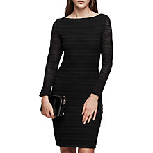 Buy Reiss Denise Bodycon Lace Dress, Black Online at johnlewis.com