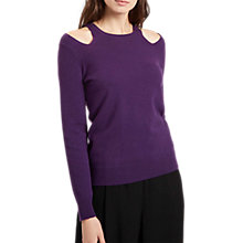 Buy Jaeger Cashmere Cut Out Crew Neck Jumper Online at johnlewis.com