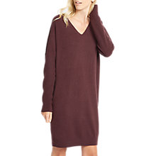 Buy Jaeger V-Neck Cashmere Dress, Fig Online at johnlewis.com