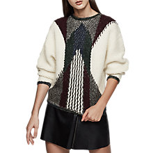 Buy Reiss Jemima Textured Cropped Jumper, Multi Online at johnlewis.com