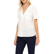 Buy Jaeger Oversized Silk Polo Blouse Online at johnlewis.com
