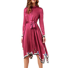 Buy L.K. Bennett Devoto Silk Dress, Deep Rose Online at johnlewis.com