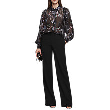 Buy Reiss Khali Printed Pintuck Blouse, Multi Online at johnlewis.com