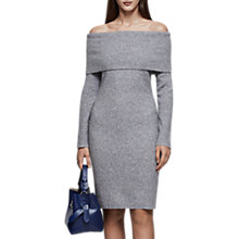 Buy Reiss Eliana Off Shoulder Knitted Dress, Grey Online at johnlewis.com