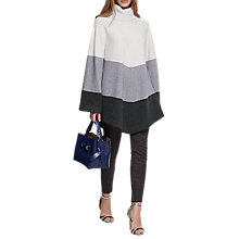 Buy Reiss Ezmae Striped Poncho, Neutral Online at johnlewis.com
