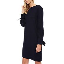 Buy Jaeger Tie Cuff Shift Dress, Navy Online at johnlewis.com