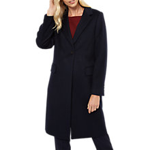Buy Jaeger Wool Cashmere Boyfriend Coat, Navy Online at johnlewis.com