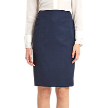 Buy Jaeger Windowpane Pencil Skirt, Navy Online at johnlewis.com