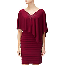 Buy Adrianna Papell Matte Jersey Banded Capelet Dress, Cranberry Online at johnlewis.com