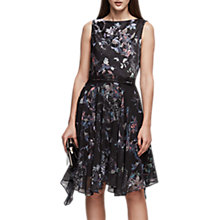 Buy Reiss Peony Draped Printed Dress, Multi Online at johnlewis.com