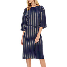 Buy Jaeger Colour Block Striped Silk Dress, Navy/Multi Online at johnlewis.com