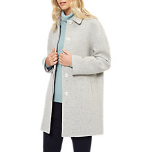 Buy Jaeger Wool Rich Speckle Coat, Light Grey Online at johnlewis.com
