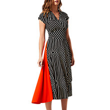 Buy L.K. Bennett X Preen Shelly Jersey Dress, Print Black Online at johnlewis.com