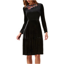 Buy L.K. Bennett Patti Silk Blend Velvet Dress, Black Online at johnlewis.com