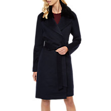 Buy Jaeger Removable Faux Fur Collar Wrap Coat Online at johnlewis.com