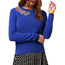 Buy L.K. Bennett Patti Wool Cashmere Jumper, Blue Royal Online at johnlewis.com