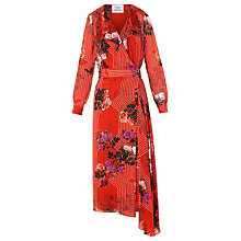 Buy L.K. Bennett Vali Floral Silk Midi Dress Online at johnlewis.com