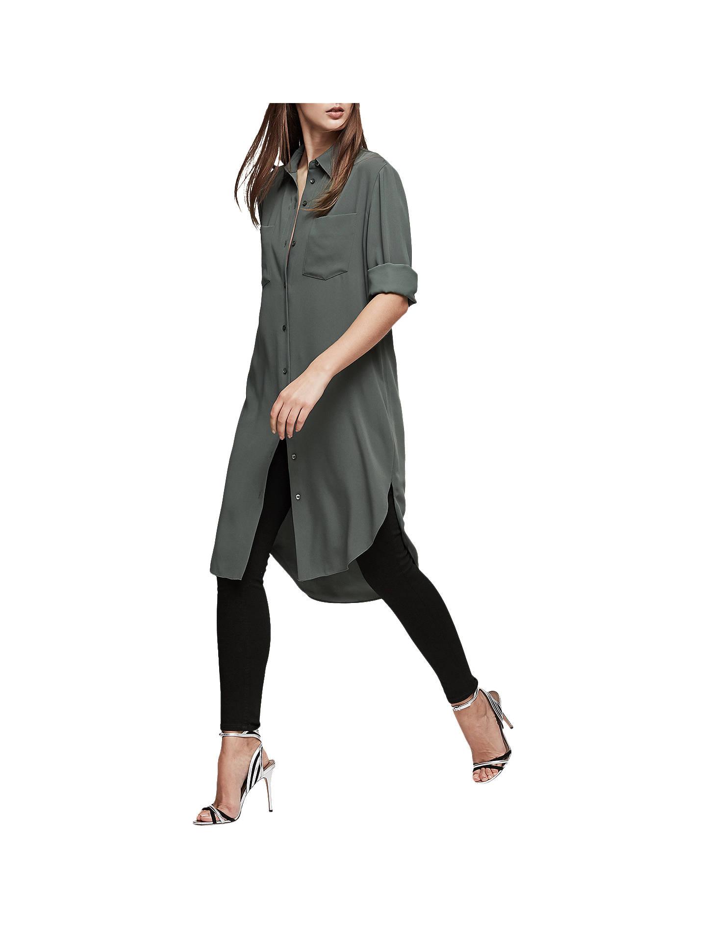 Reiss Zoey Shirt Dress, Juniper at John Lewis & Partners