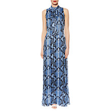Buy Gina Bacconi Delilah Snake Print Maxi Dress, Blue Online at johnlewis.com