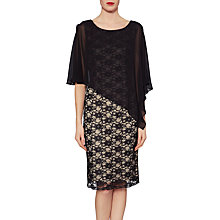Buy Gina Bacconi Martha Lace Cape Dress, Black/Beige Online at johnlewis.com