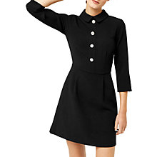 Buy Warehouse Diamante Button Dress, Black Online at johnlewis.com