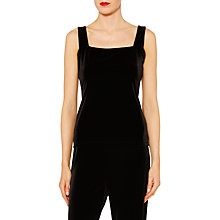 Buy Gina Bacconi Kayleigh Velvet Camisole, Black Online at johnlewis.com