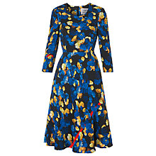 Buy L.K. Bennett Syd Flared Floral Dress, Blue Mix Online at johnlewis.com
