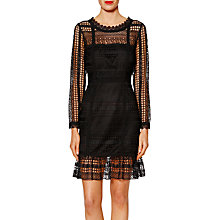 Buy Gina Bacconi Veronica Modern Lace Dress, Black Online at johnlewis.com