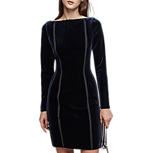Buy Reiss Xina Open Back Velvet Dress, Black Online at johnlewis.com