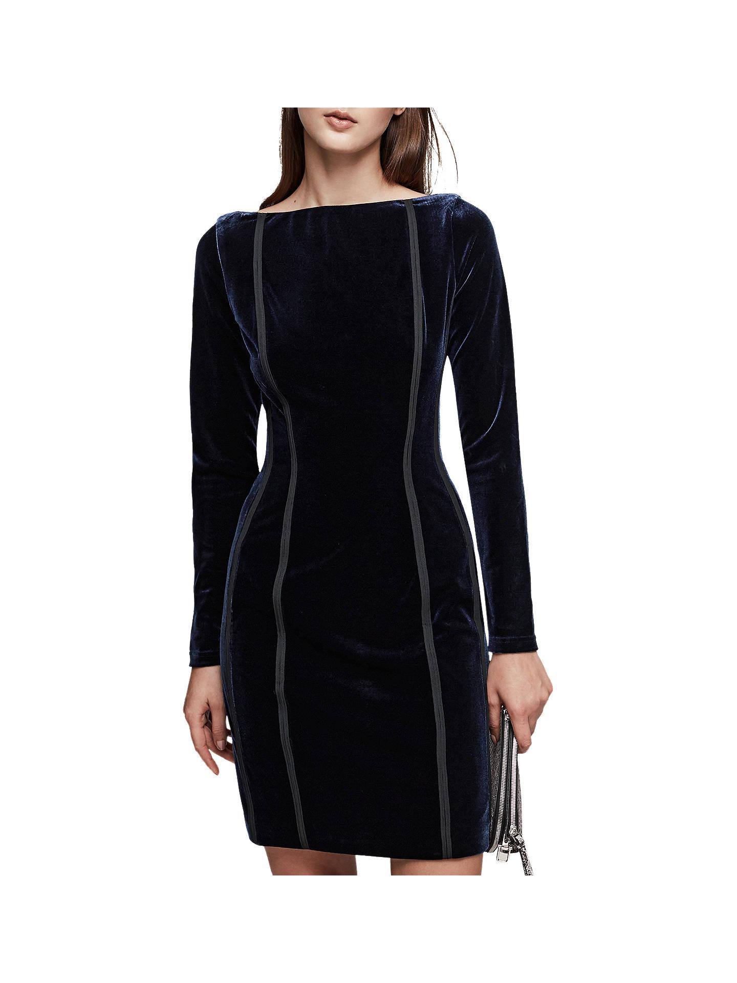 758157a887d Buy Reiss Xina Open Back Velvet Dress