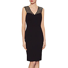 Buy Gina Bacconi Katie Stripe Illusion Dress, Black Online at johnlewis.com
