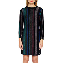Buy Ted Baker Colour By Numbers Maryan Mini Flared Dress, Blue Online at johnlewis.com