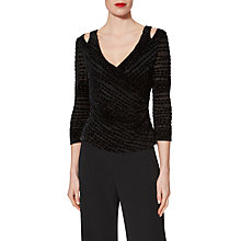Buy Gina Bacconi Pippa Velvet Top, Black Online at johnlewis.com