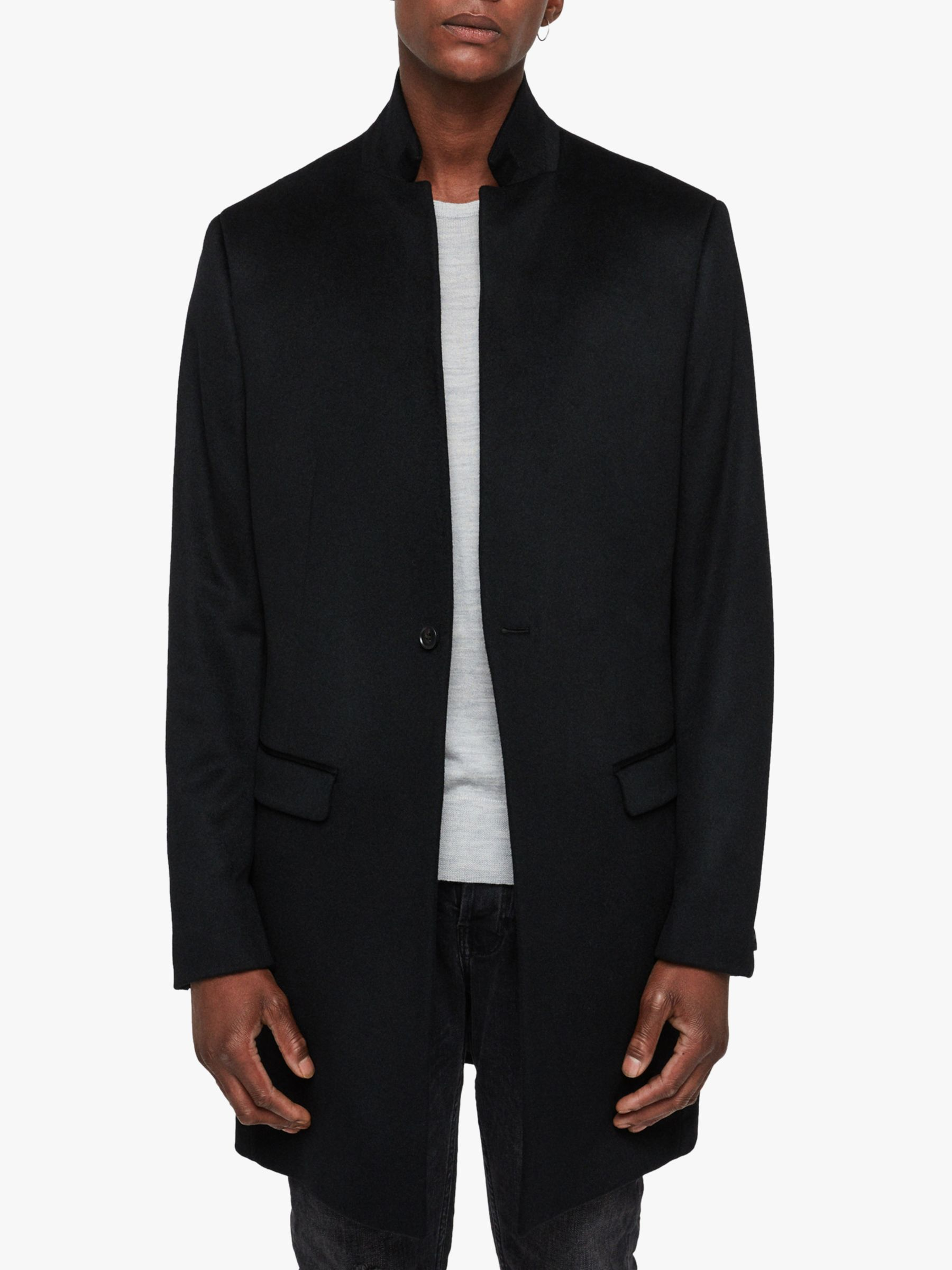 AllSaints AllSaints Bodell Wool Tailored Coat, Black