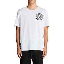 Buy AllSaints Fraternity Crew Neck T-Shirt, Optic White Online at johnlewis.com