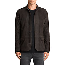 Buy AllSaints Balmorro Leather Jacket, Anthracite Grey Online at johnlewis.com