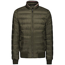 Buy Tommy Hilfiger Arlos Down Padded Jacket, Khaki Online at johnlewis.com