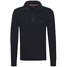 Buy Tommy Hilfiger Tylor Button Neckline Jumper, Sky Captain Online at johnlewis.com