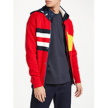 Buy Tommy Hilfiger Layton Cotton Knit Hooded Jacket, Red Online at johnlewis.com