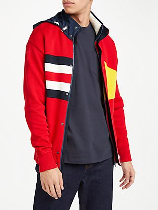 Tommy Hilfiger Layton Cotton Knit Hooded Jacket, Red