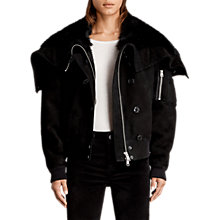 Buy AllSaints Trux Bomber Jacket, Black Online at johnlewis.com