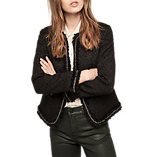 Buy Gerard Darel Ombeline Jacket, Black Online at johnlewis.com