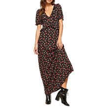 Buy Miss Selfridge Ditsy Maxi Tea Dress, Black Online at johnlewis.com