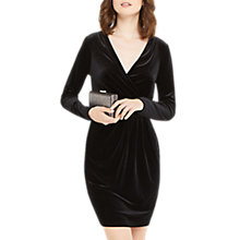 Buy Oasis Romana Velvet Wrap Dress, Black Online at johnlewis.com